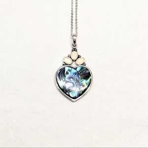 Jewelry - Vintage Abalone Heart Necklace